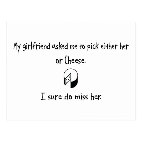 Pick Girlfriend or Cheese Postcard