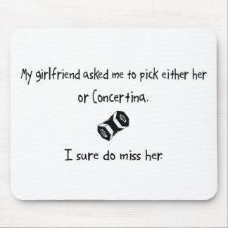 Pick Girlfriend or Concertina Mouse Pad