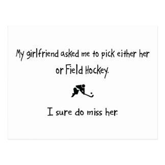 Pick Girlfriend or Field Hockey Postcard