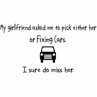 Pick Girlfriend or Fixing Cars Photo Sculpture Ornament