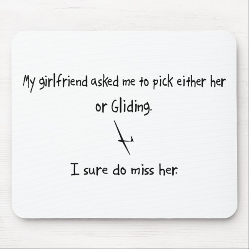 Pick Girlfriend or Gliding Mouse Pad