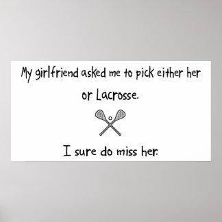 Pick Girlfriend or Lacrosse Print