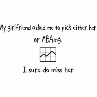Pick Girlfriend or MBAing Acrylic Cut Outs