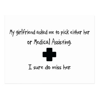 Pick Girlfriend or Medical Assisting Postcard
