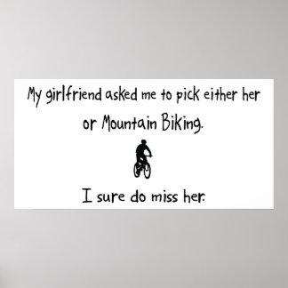 Pick Girlfriend or Mountain Biking Poster