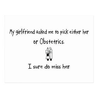 Pick Girlfriend or Obstetrics Postcard