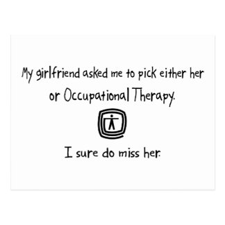 Pick Girlfriend or Occupational Therapy Postcard