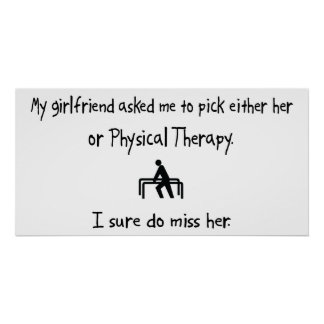 Pick Girlfriend or Physical Therapy Posters