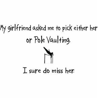 Pick Girlfriend or Pole Vaulting Photo Cutout