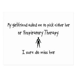 Pick Girlfriend or Respiratory Therapy Postcard