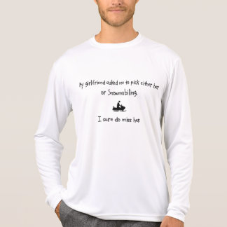 Pick Girlfriend or Snowmobiling T Shirts