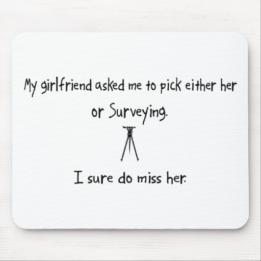 Pick Girlfriend or Surveying Mouse Pads