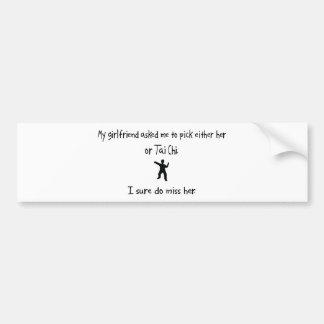 Pick Girlfriend or Tai Chi Bumper Sticker