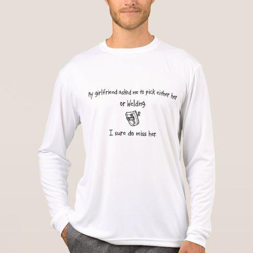 Pick Girlfriend or Welding T-shirt