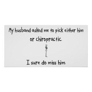 Pick Husband or Chiropractic Poster