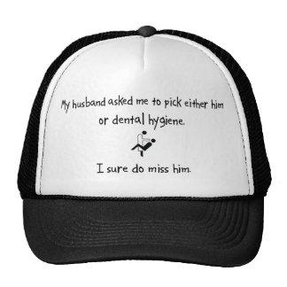Pick Husband or Dental Hygiene Mesh Hat
