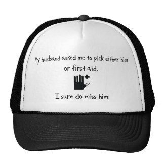 Pick Husband or First Aid Mesh Hats