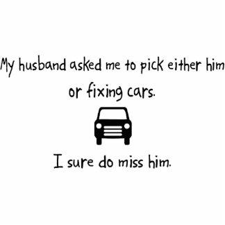 Pick Husband or Fixing Cars Photo Sculpture Ornament