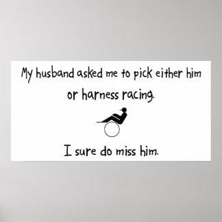 Pick Husband or Harness Racing Print