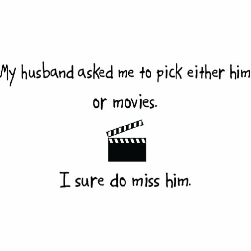 Pick Husband or Movies Photo Sculpture Ornament