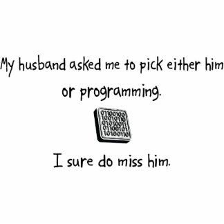 Pick Husband or Programming Photo Sculpture Ornament