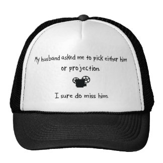 Pick Husband or Projection Mesh Hat