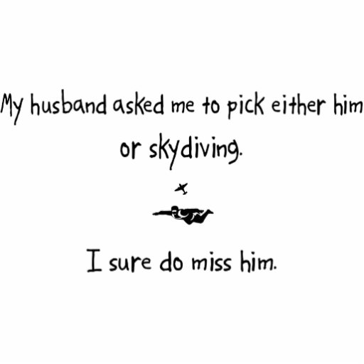 Pick Husband or Skydiving Cut Outs