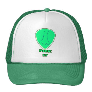 """Pick It"" Guitar Picks with a Nose Trucker Hat"