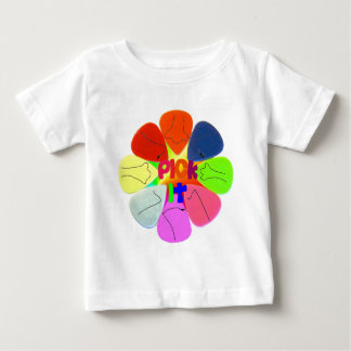 """""""Pick It"""" Guitar Picks with Noses Baby T-Shirt"""