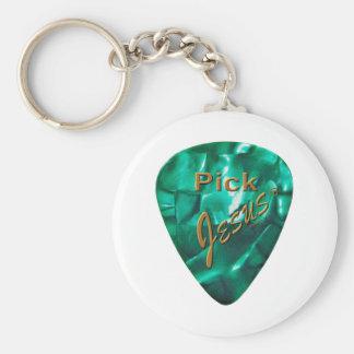 Pick Jesus Basic Round Button Keychain