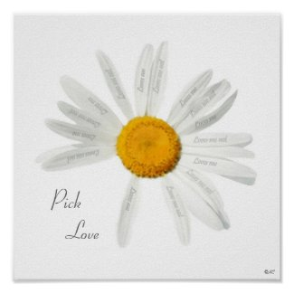 Pick Love print