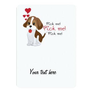 Pick me - cute puppy custom announcement
