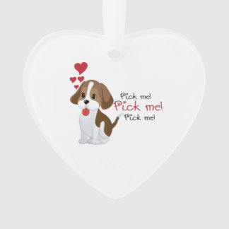 Pick me - cute puppy ornament