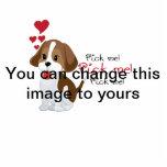 Pick me - cute puppy photo sculpture