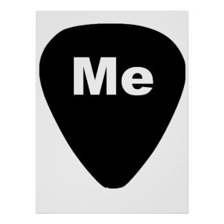 Pick Me Funny Guitar Player Poster