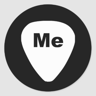 Pick Me Funny Guitar Player Stickers
