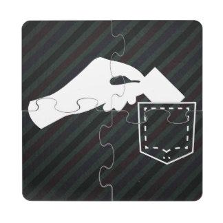 Pick Pocketers Symbol Puzzle Coaster