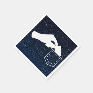 Pick Pocketers Symbol Standard Cocktail Napkin