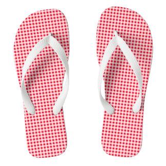 Pick The Colour Fine Gingham Pattern Flip Flops