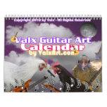 Pick this Guitar  ValxArt calendar