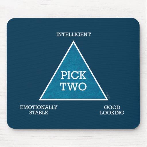 Pick Two Triangle mousepad