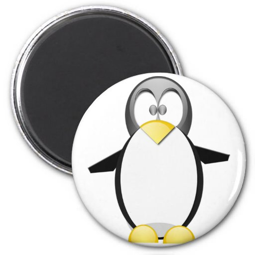 Pick Up A Penquin 2 Inch Round Magnet