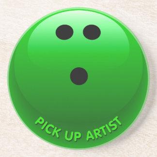 Pick Up Artist Bowling Ball Sandstone Coaster