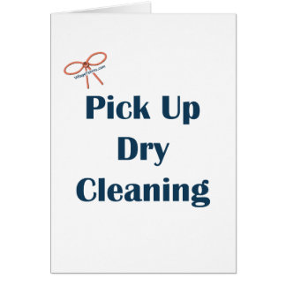 Pick Up Dry Cleaning Reminders Card