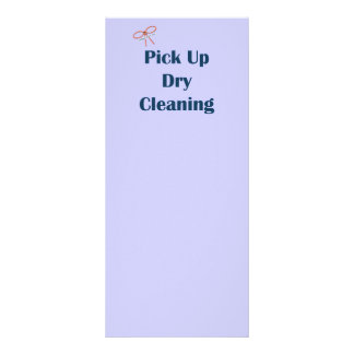 Pick Up Dry Cleaning Reminders Customized Rack Card