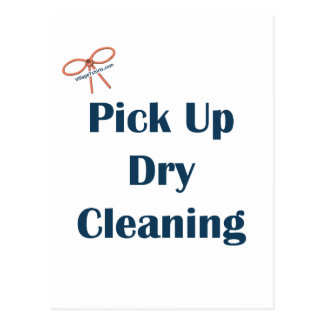 Pick Up Dry Cleaning Reminders Postcard