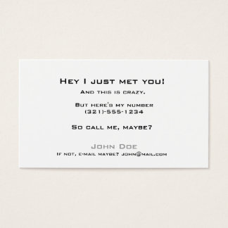 Pick up line card-call me business card