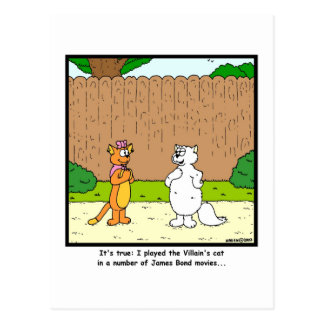 Pick up line: Cat cartoon Postcard