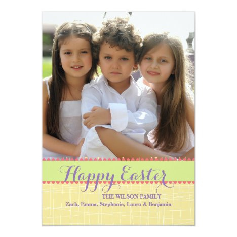 Pick Up Sticks Photo Easter Card