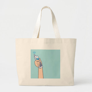 Pick up the phone Vector Large Tote Bag